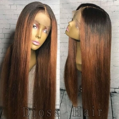 180 Density Lace Front Human Hair Wigs With Baby Hair Glueless Full Lace Wigs Malaysia Ombre Human Hair Lace Front Wigs Two Tone