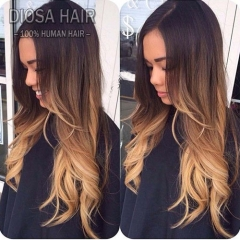 Ombre Lace Front Human Hair Wigs 1B#T4#T27# Ombre Full Lace Wig Ombre Lace Front Wig With Baby Hair