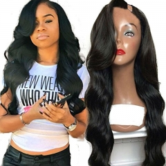 Body Wave U Part Wig Human Hair For Black Women Grade 9A Unprocessed Brazilian Upart Wigs 1*3 Left Part For Black Womenn U Part Wigs