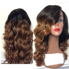 Ombre Lace Front Human Hair Wigs 150 density 1BT27# Ombre Full Lace Wig Ombre Lace Front Wig With Baby Hair