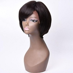 Diosa Hair Short bob Lace Front Human Hair Wigs Pre Plucked Straight Full End Brazilian Remy Hair Short Bob Wigs Bleached Knots Side Part