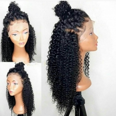 Kinky Curly Lace Front wigs Human Hair 150 Density, Pre Plucked Full Lace Human Hair Wigs for Black Women, with Baby Hair No Shedding No Tangle