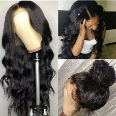 Virgin Brazilian Body Wave Human Hair 13x6 Lace Front Wigs with Baby Hair 150% Density Pre Plucked Natural Hairline wigs for Black Women Natural Color