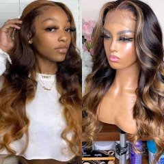 Ombre Lace Front Human Hair Wigs Ombre Full Lace Wig Ombre Lace Front Wig With Baby Hair