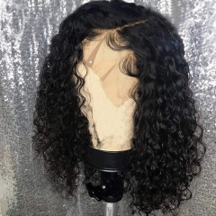 Short Bob Lace Front Wigs Human Hair Curly For Black Women With Baby Hair 150 Density Virgin Human Hair Curly Lace Front Wigs Pre Plucked
