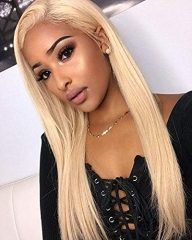 613 Full Lace Wig Human Hair With Baby Hair 130 Density Blonde Full Lace Wig Pre Plucked Bleached Knots